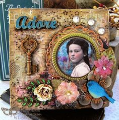 FRIENDS in ART: Adore Canvas Collage on the Finnabair Blog
