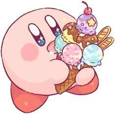 Cute Kawaii Drawings, Cute Animal Drawings, Nintendo, Kirby Games, Bad Drawings, Kirby Character, Anime Watch, Aesthetic Drawing, Video Game Characters