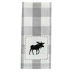 CABIN//LODGE RUSTIC  KITCHEN TOWELS,SET OF 2 BEIGE BROWN DEER SO CUTE