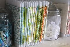 Organized craft room | How to store fabric in your craft or sewing room via @joannstores