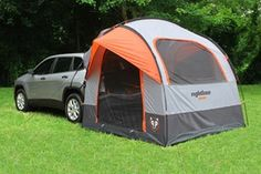 Camp Right SUV tent attached to Honda CR-V