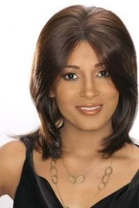 2013 Brown Lace Front Super Natural Straight Human Hair Wig