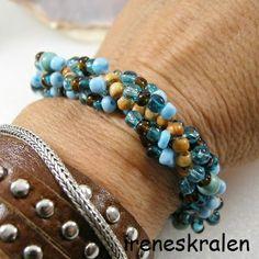 Armband Dutch Spiral Glas handgemaakt van irenesKralen op DaWanda.com