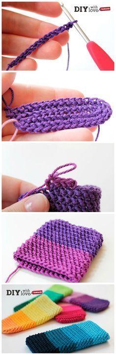 Una custodia #crochet coloratissima per il tuo smartphone - il progetto #uncinetto perfetto per principianti!