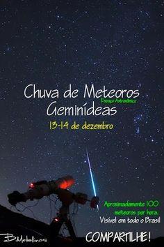 Chuva de meteoros hoje!