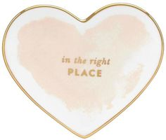 Pin for Later: Indulge the Lady in Your Life With These Valentine's Day Treats  Kate Spade Blush Heart Dish (£14)