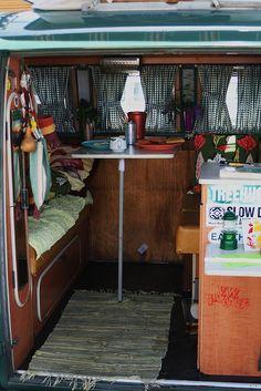 volkswagen camper interior by laura*b, via Flickr