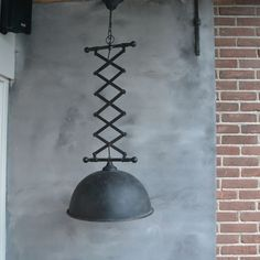 mf050 - hanglamp zwart 42x42x114cm