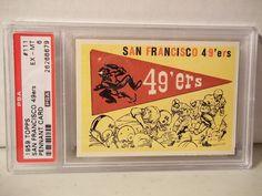 1959 Topps San Francisco Pennant PSA EX-MT 6 Football Card #111 NFL Collectible #LosAngelesRams