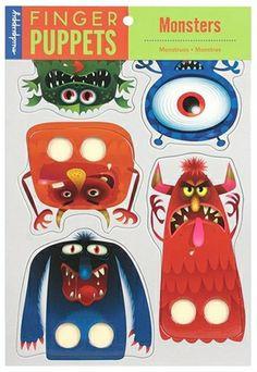 Marionnettes à doigts - Monstres (Mudpuppy)