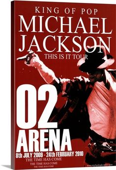 """This sale is for a stand-up display for Michael Jackson's """"This Is It"""" Tour at the 02 Arena. The """"This Is It"""" Tour was a planned series of fifty concerts by Michael Jackson to be held at The Arena in London. Star Trek Posters, Tour Posters, Band Posters, Movie Posters, Michael Jackson Tour, Vintage Concert Posters, Poster Pictures, Show, Love People"""