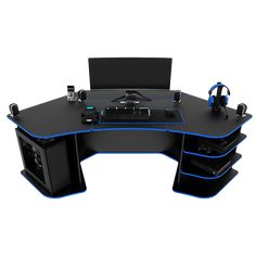 The economic Gaming Desk (BR) from our series without the remote lift/hide electronic mechanism for the monitors. It can support up to monitors. Corner Gaming Desk, Good Gaming Desk, Gaming Computer Desk, Gaming Room Setup, Gaming Rooms, Custom Gaming Desk, Pc Gaming Table, Custom Desk, Video Game Rooms