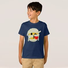 #funny - #Funny Mummy Kiss Heart Smiley Emoji Halloween T-Shirt