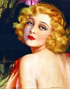 """""""Nobody But You"""" ~ Rolf Armstrong, ca. 1920s."""