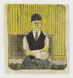 David Hockney (b. 1937), Self-portrait (Scottish Arts Council 1; Tokyo 1),   lithograph in colours, 1954, on cartridge paper