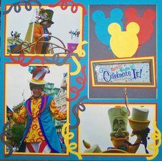 DISNEY SCRAPBOOK -Good Disney parade layout