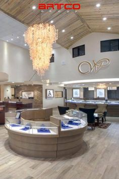 Manufacture & Design of Store Fixtures by Artco Group. #RetailDesign #InteriorDesign Jewelry Store Design, Jewelry Stores, Store Fixtures, Retail Design, Chandelier, Ceiling Lights, Group, Interior Design, Home Decor