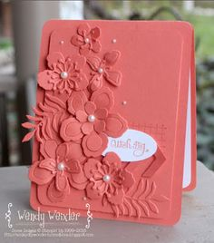 handmade card from Wickedly Wonderful Creations ... monochromatic ... layered flowers using Botanical Blooms dies .... great design ... Stampin' Up!