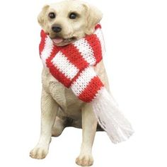 Sandicast Yellow Labrador Retriever with Red and Green Scarf Christmas Ornament ** See this great product.