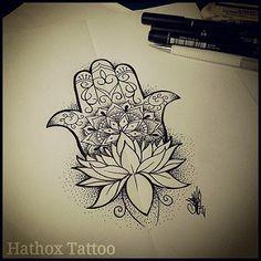 Estudos para tattoo Hamsá / Mão de Fatima #hamsa #mandala #dontwork…