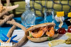 Creating summer delicious recipes: taste a mouthwatering appetizer with our fluffy olive bread & shrimps! #Αchaikipita