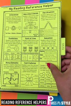 Help your students with reading skills and strategies during reader's workshop. These handy reference anchor charts are great companions to interactive notebooks. There are so many ways to prep and us Reading Lessons, Reading Resources, Reading Skills, Teaching Reading, Reading Activities, Learning, Grammar Activities, Reading Tips, Teaching Time