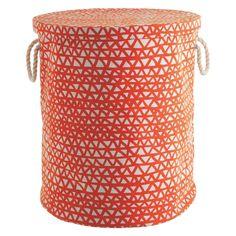NOAH Orange printed fabric storage basket