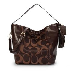 #Coach Outlet Store#Coach Legacy In Signature Medium Coffee Shoulder Bags ANT$62.99 .Dont miss out.