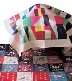 Pojagi, traditional Korean patchwork and embroidery Korean Colors, Korean Crafts, History Of Quilting, Quilt Modernen, Korean Design, Thinking Day, Korean Art, Fabric Art, Quilting Designs