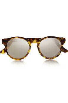 Le Specs Hey Macarena Sonnenbrille mit rundem Gestell aus Azetat | NET-A-PORTER