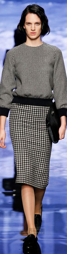 Max Mara.Fall 2015. - Please put a red scarf on me.