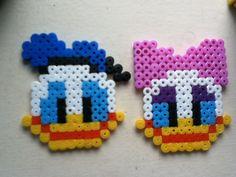★ I N S P I R A T I O N Donald + Daisy hama beads by JennaTheArtist