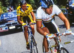 Greg LeMond in action during the 1990 Tour de France - the final edition of the French Grand Tour won by the American