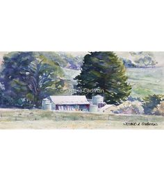 """Australian Landscape"" by Justine Cadman. Paintings for Sale. Bluethumb - Online Art Gallery Watercolour Paintings, Landscape Paintings, Watercolor, Rural Area, Buy Art Online, Paintings For Sale, Online Art Gallery, Original Artwork, Wildlife"