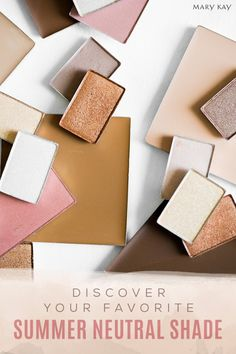 From foundation to eyeshadow to blush, summer neutrals come in all makeup shades and flatter any complexion. | Mary Kay