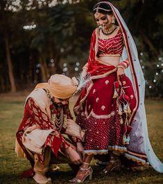 Bride and Groom Wedding Dress Colour Combinations - Fashion Indian Wedding Bridesmaids, Groom Wedding Dress, Indian Wedding Couple, Indian Bride And Groom, Indian Wedding Outfits, Indian Bridal, Indian Weddings, Bridal Outfits, Bride Groom