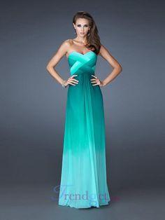 2013 New Sheath / Column Floor-length Sweetheart Ruffles Chiffon Prom Dresses Colored - $159.99 - Trendget.com
