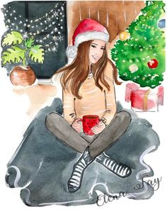 Gifts for sister life 27 Ideas Christmas Scenes, Christmas Pictures, Christmas Art, Winter Christmas, Last Minute Christmas Gifts, Christmas Gifts For Friends, Last Minute Gifts, New Year Illustration, Christmas Illustration