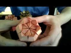 Folding a Six petal flower Gift box (full video) - YouTube
