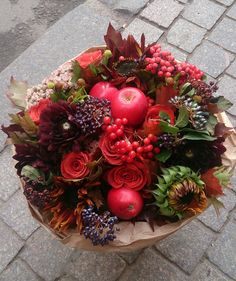 Fruit & floral table centerpiece or bouquet