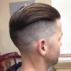 Slick Back with Shaved Sides