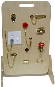 Locks and latches activity board - I bet we could make something like this