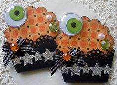 Halloween Cupcake EmbellishmentsSet of 2Eyeballs by sarasscrappin