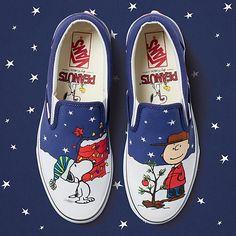 4cb8fc33b91 Vans x Peanuts Christmas slip on (2017) Custom Shoes