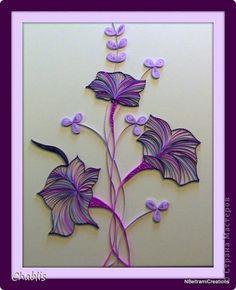 Картина панно рисунок Квиллинг Утренние глории Бумажные полосы фото 7 <3<3<3