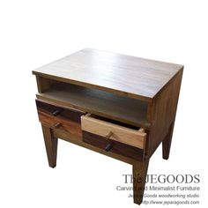 Stunning Rustic Nighstand and Side table - Rustic Furniture in Pop Art Style.  We produce & supply #rusticfurniture style #farmhousefurniture style made of teak & mindi wood. Best traditional handmade construction with high quality artisan made at affordable price. http://jeparagoods.com