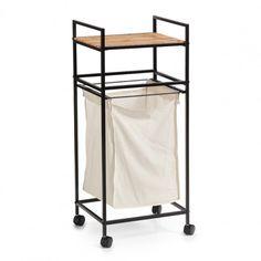 Laundry Centre with Shelf Zeller Colour: Black - Black Laundry Shelves, Laundry Cabinets, Laundry Hamper, Storage Shelves, Storage Spaces, Sink Basket, Basket Shelves, Bamboo Cabinets, Under Sink Storage Unit