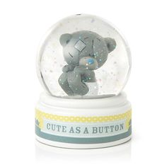 Me to You 1-Piece Tiny Tatty Teddy Cute As A Button Water Globe: Amazon.co.uk: Kitchen & Home