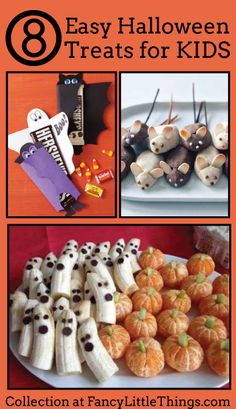 8 Easy Halloween Treats for KIDS ~ this says for kids, but... I want all of them.