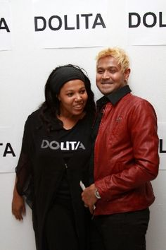 Mark Dealwis with fashion designer Dolita